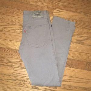 BOYS LEVIS 510 super skinny jean cement grey.